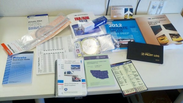 Flight Training books and supplies